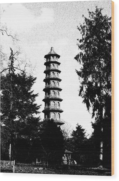 Japanese Pagoda At Kew Gardens Wood Print