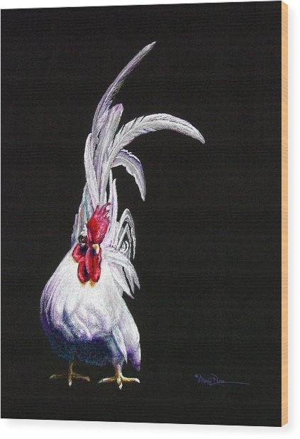 Japanese Rooster Wood Print