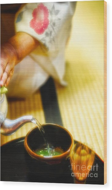 Japanese Tea Ceremony Wood Print