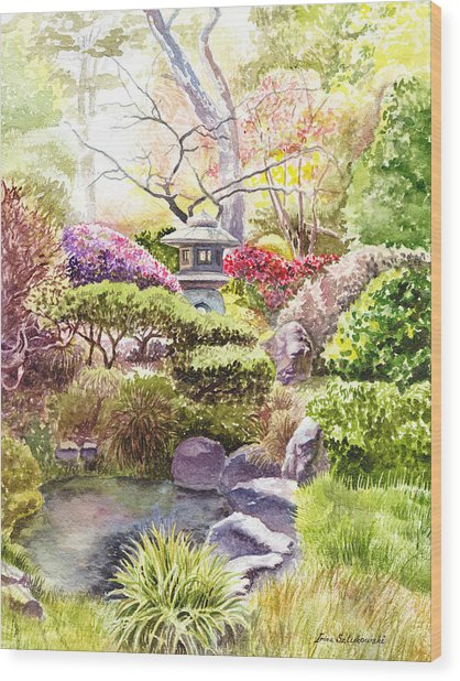 San Francisco Golden Gate Park Japanese Tea Garden  Wood Print