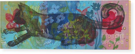 Jardine Cat Wood Print