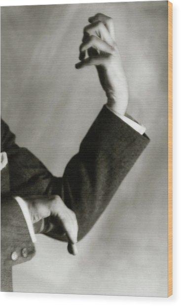 Jascha Heifetz' Hands Wood Print by Francis Bruguiere