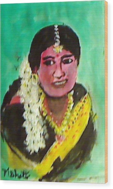 Jasmin Flowers Wood Print by M Bhatt