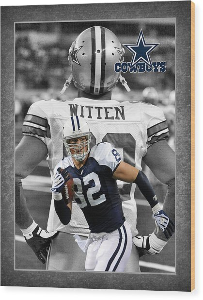 Jason Witten Cowboys Wood Print