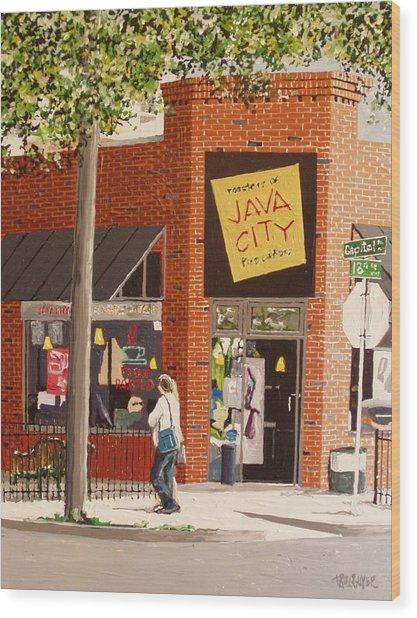 Java City Wood Print by Paul Guyer