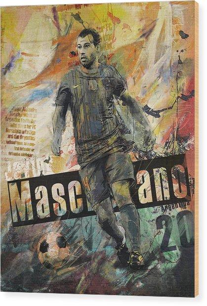 Javier Mascherano - B Wood Print