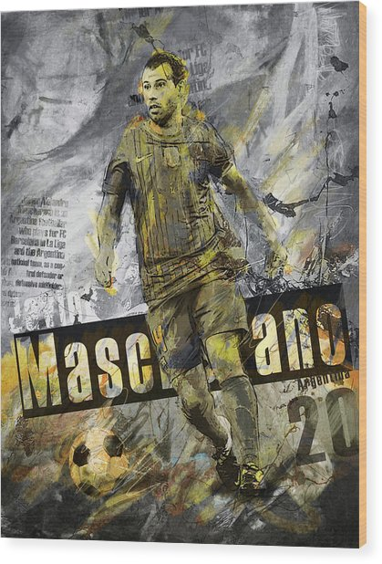 Javier Mascherano - C Wood Print