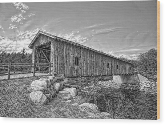 Jay Covered Bridge Wood Print