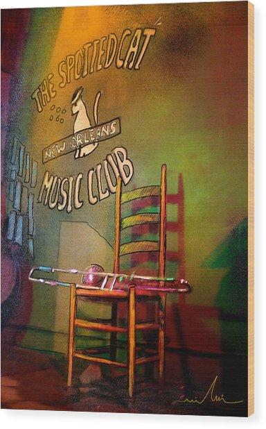 Jazz Break In New Orleans Wood Print