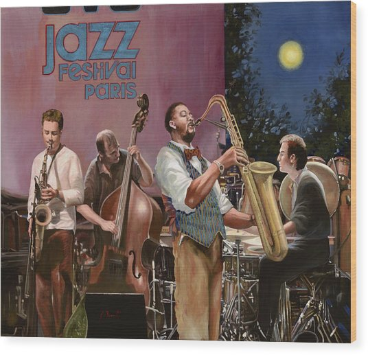 jazz festival in Paris Wood Print