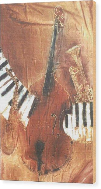 Jazz Wood Print