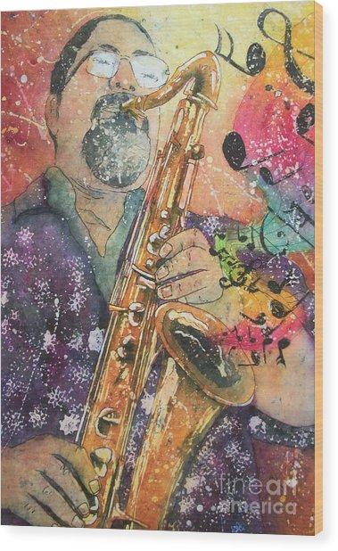Jazz Master Wood Print