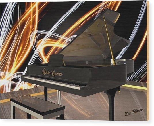 Jazz Piano Bar Wood Print