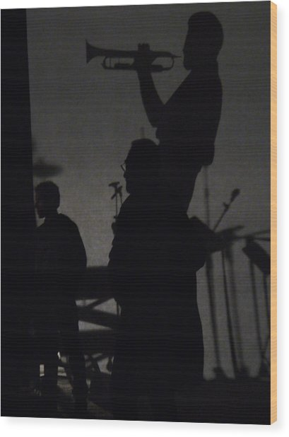Jazz Shadows Wood Print