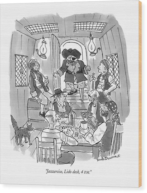 Jazzercise, Lido Deck, 4 P.m Wood Print