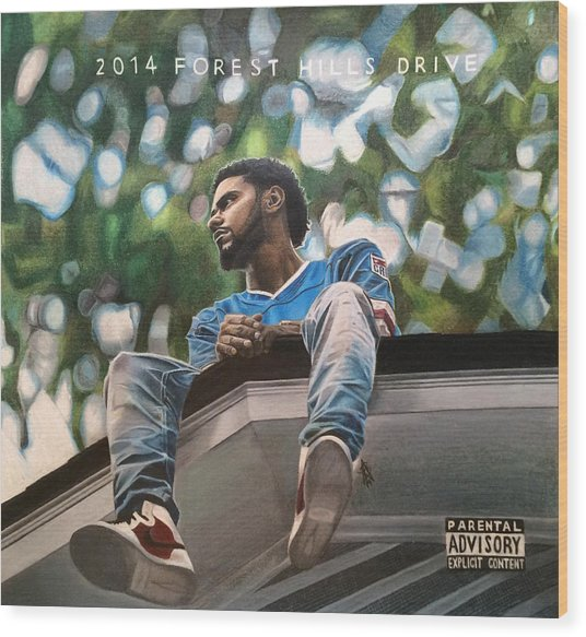 J.cole - 2014 Forest Hills Drive Drawing Wood Print