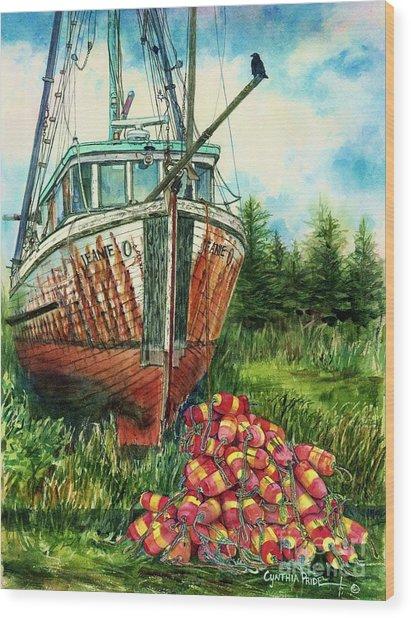 Jeanie O And The Crow Wood Print