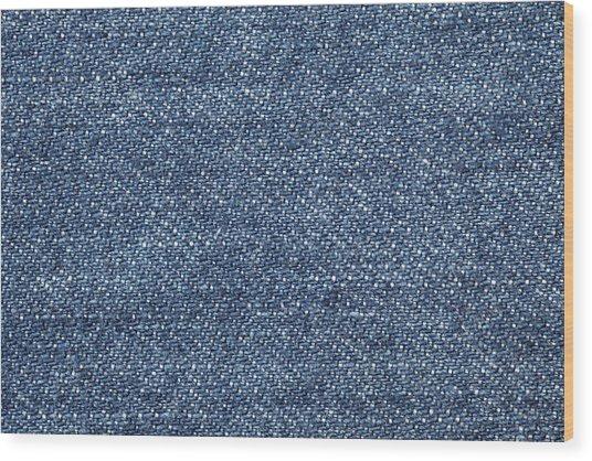 Jeans Texture Wood Print by Andrew Dernie
