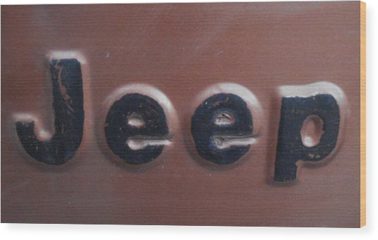 Jeep Two Wood Print