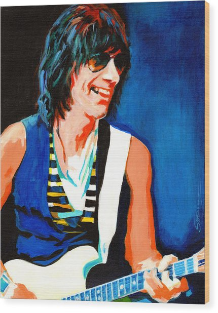 Jeff Beck. Brush With The Blues Wood Print