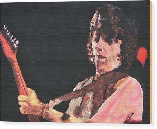 Jeff Beck Wood Print