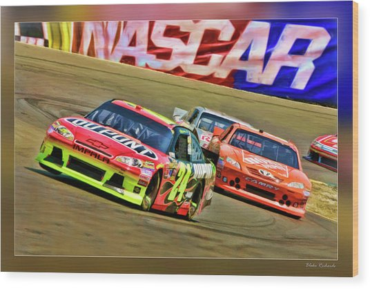Jeff Gordon-nascar Race Wood Print