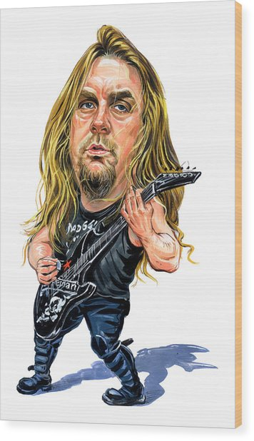 Jeff Hanneman Wood Print