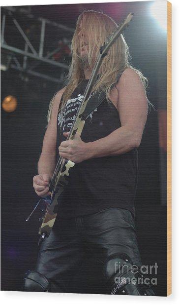Jeff Hanneman- Slayer Wood Print