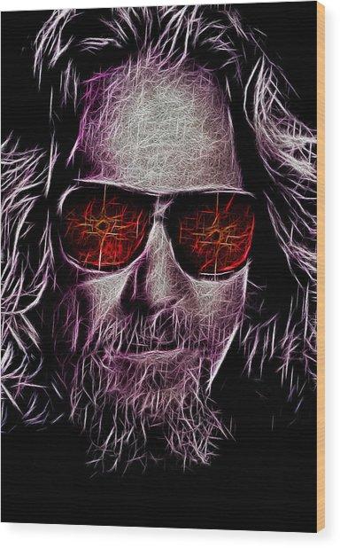 Jeff Lebowski - The Dude Wood Print