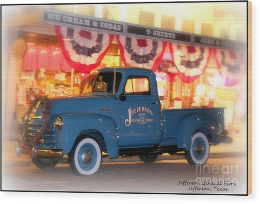 Jefferson General Store 51 Chevy Pickup Wood Print