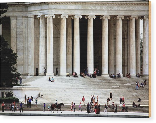 Jefferson Memorial--a Day In The Life Wood Print