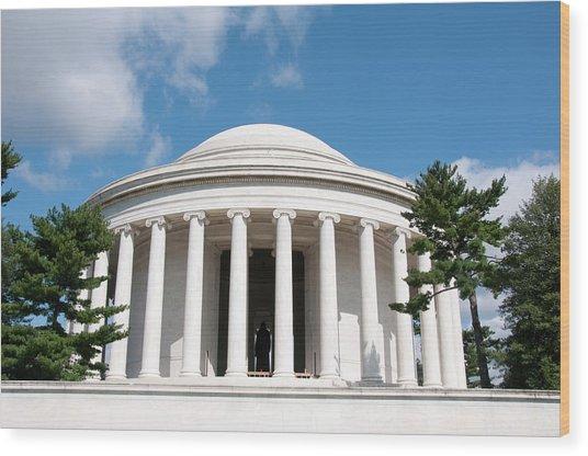 Jefferson Memorial, Washington, Dc Wood Print by Lee Foster