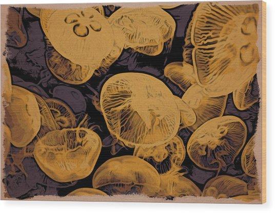 Jellyfish Kingdom Wood Print