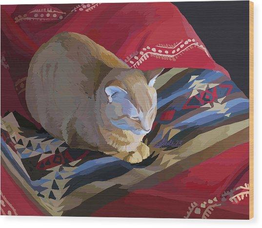Jem And Blanket Wood Print