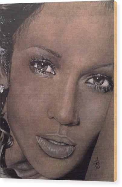 Jennifer Lopez Wood Print