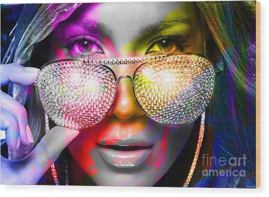 Jennifer Lopez  Wood Print