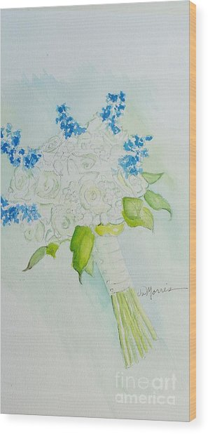 Jennifer's Wedding Bouquet Wood Print