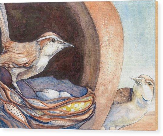 Jenny Wrens Wood Print