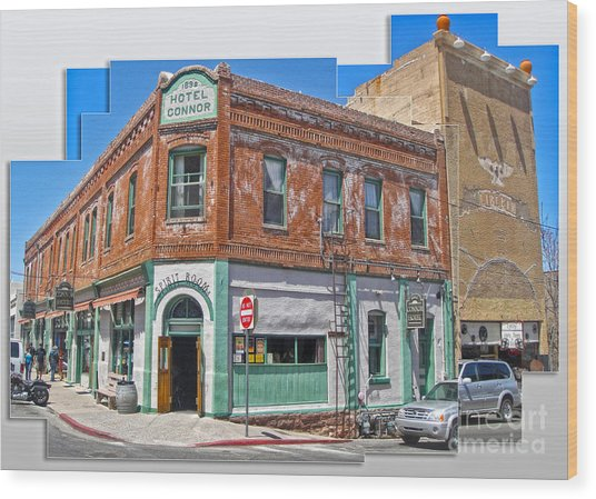 Jerome Arizona - Hotel Conner - 01 Wood Print by Gregory Dyer