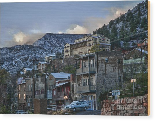 Jerome Arizona Sunrise Hdr Wood Print