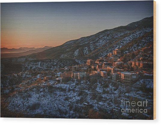 Jerome Sunrise From Sunshine Hill Wood Print