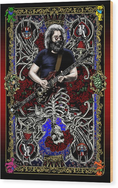 Jerry Card Wood Print