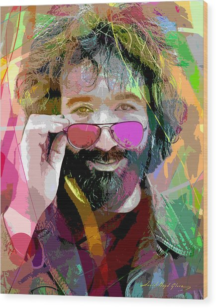 Jerry Garcia Art Wood Print