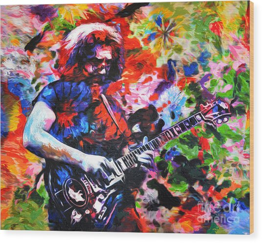 Jerry Garcia - Grateful Dead - Original Painting Print Wood Print
