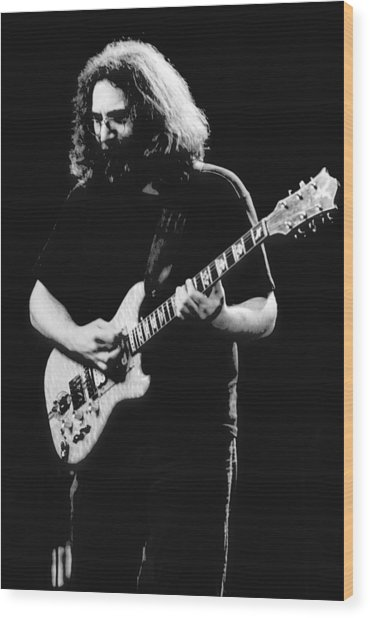 Jerry Garcia In Cheney 1978 Wood Print
