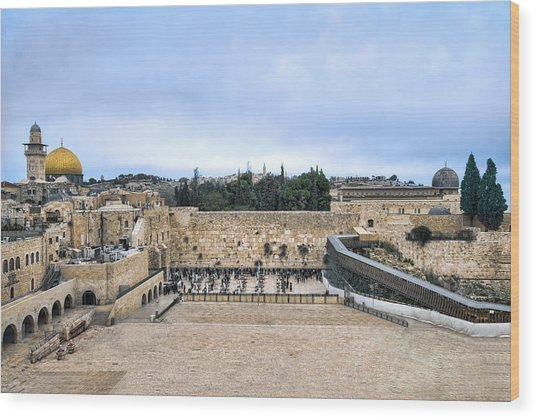 Jerusalem The Western Wall Wood Print