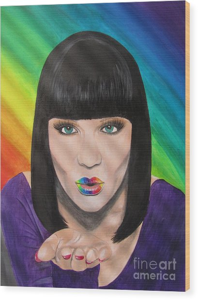 Jessie J Wood Print