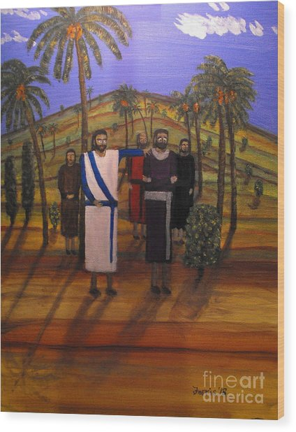 Jesus And The Rich Young Ruler Wood Print