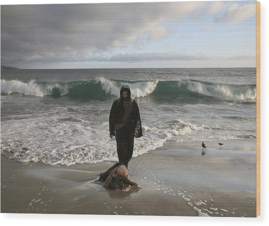 Jesus Christ- I Love You So Much Don't Cry I'm Here Wood Print