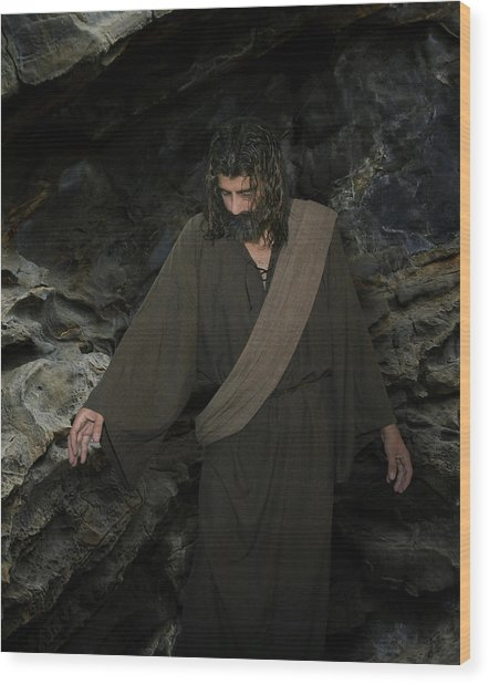 Jesus Christ- Lazarus Come Forth Wood Print